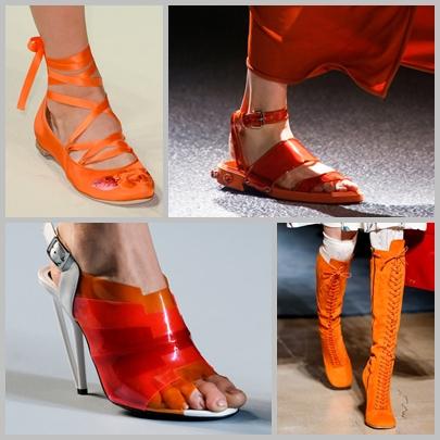 portocaliu-pantofi