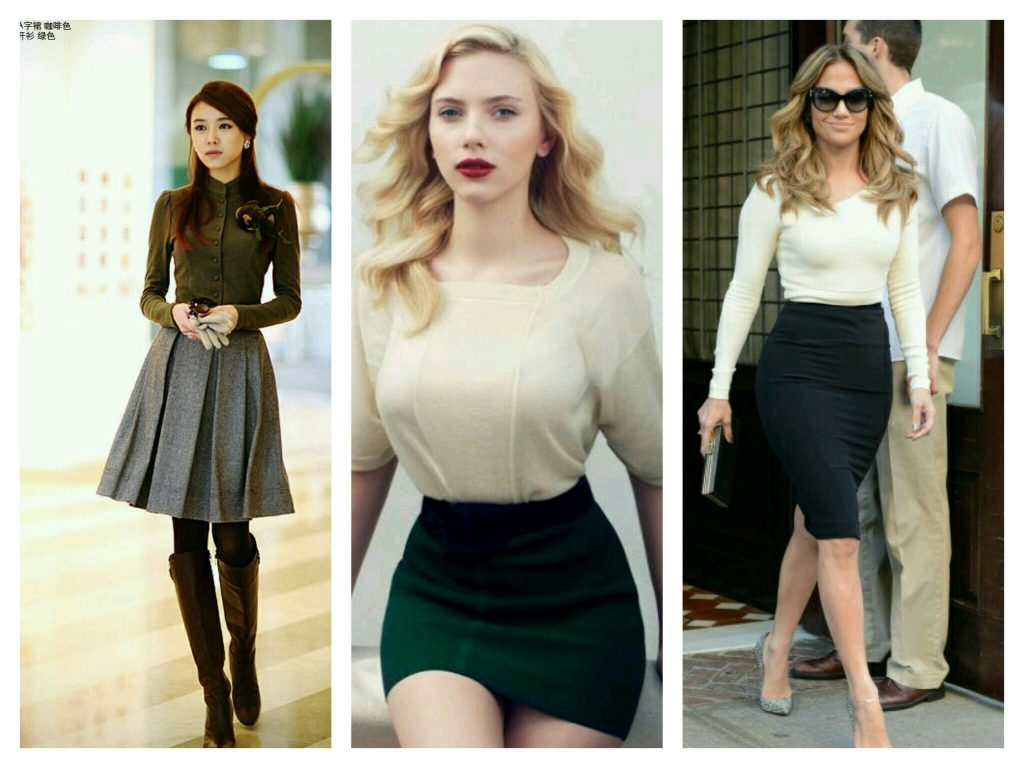 skirts hourglass shape