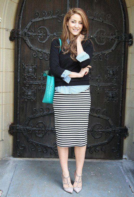 tinute-vestimentare-smart-casual-femei-fusta